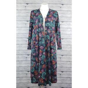 LuLaRoe Floral Kimono Duster Cardigan